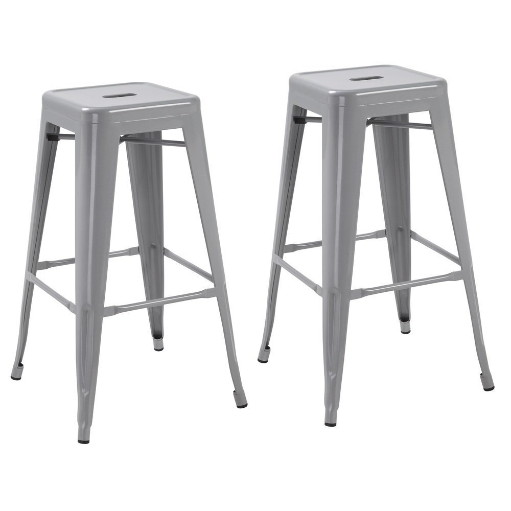 Silver 24 inch Industrial Metal Counter Bar Stool Modern  : 51joZDFnTYLSL1000 from www.btexpert.com size 1000 x 1000 jpeg 53kB